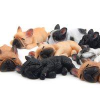 ingrosso souvenir animali-Sleepy Bulldog francese Magnete del frigorifero 8 Disegni Animali Pigri Animali Resina Souvenir turistico Home Office Decor Rifornimento del partito 1 Pezzi ePacket
