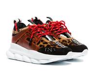 08de9e6c873 2019 высокое качество известный бренд мужская Повседневная обувь черный  красный белый High-top натуральная кожа мужская квартиры Медуза роскошные  кроссовки