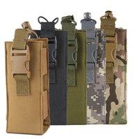 cantina de viagem venda por atacado-600D Bolsa de Garrafa de Água de Nylon Molle Tactical Canteen Cover Holster Outdoor Travel Kettle Bag Drop Shipping