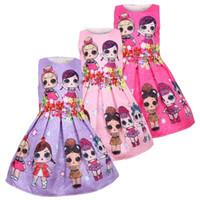 sevimli giyinmiş toptan satış-Bebek Elbiseleri 3-9Y Yaz Sevimli Zarif Elbise Çocuklar Parti Noel Kostümleri Çocuk Giysileri Prenses Lol Kız Elbise
