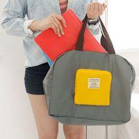 Wholesale shop clothing resale online - Reusable Foldable Shop Bag Travel Waterproof Storage Bags Shoulder Bag Zipper Clothes Shoe Bags Big Capacity Organizer Pouch Case VT1661