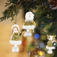 plush snowman großhandel-Nette Weihnachtsmann Schneemann Puppe Dekoration Weihnachtsbaum Wandbehang Ornament Plüsch Weiche Kinder Puppe Christbaumschmuck