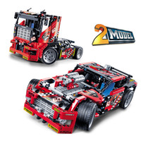 Wholesale tech toys for sale - Group buy The high tech mechanical puzzle assembly variability racing car model boys assembled building blocks toys