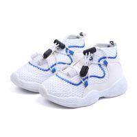 bebés varones pequeños grandes al por mayor-Niños Chicas Marca de moda Zapatillas de deporte para niños Escuela Deporte Entrenadores Bebé Niño Niño pequeño grande Casual Skate Elegante diseñador Zapatos