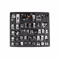 Wholesale brother machine feet resale online - DIY Apparel Fabric Sewing Machines Domestic Sewing Machine Presser Foot Feet Kit Set With Retail Box For Brother Singer Janom