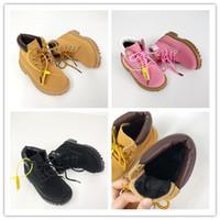 botas de niña bebé al por mayor-Timberland 2019 zapatos de diseño para niños Zapatillas de baloncesto para niños Wolf Grey Toddler Sport Sneakers para Boy Girl Toddler Chaussures Pour Enfant