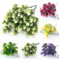 ev dekor ananas toptan satış-Ana tablo düğün Dekor diy sahte plastik Çiçekler 35Heads plastik Ananas Buket Yapay yeşil Bitkiler yapraklar faux