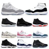 gammas basketbol ayakkabısı toptan satış-2019 erkek Basketbol Ayakkabı 11 s Snakeskin VAST GRI Concord 45 23 GAMMA MAVI 11 Bred bayan spor sneaker eğitmenler Boyutu ABD 5.5-13