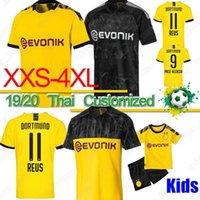 camiseta de fútbol 4xl al por mayor-Tailandia BVB Borussia Dortmund camiseta de fútbol 18 19 20 GOTZE REUS PULISIC Witsel Jersey Paco Alcácer camisa de fútbol hombres hijos kit establece XXS-4XL