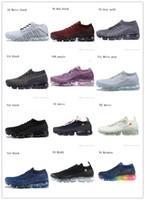 erkekler için yumuşak koşu ayakkabıları toptan satış-2019 Nike Air Vapormax designer shoes breathable high version running shoes with logo