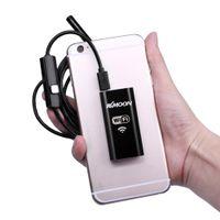 endoscópio hd wifi venda por atacado-Freeshipping Wi-fi Sem Fio Endoscópio Endoscópio Inspeção À Prova D 'Água Câmera Cobra Tablet Telefone PC LED 8.0mm 1 m HD 720 P