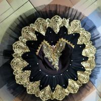erwachsene schwan kostüm großhandel-Erwachsene frauen schwarz schwanensee kostüme professionelle ballett-tutu kleid mädchen ballerina kind leistung ballett kleidung für kinder