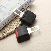 ingrosso clip nastro in nylon nero-2PCS New Black Universal Car Seat Clip Belt Extension Safe Buckle Alarm Cancellers Estensione Stopper