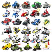 flugzeug großhandel-Mini Puzzle kleine Partikel montiert militärische kleine Blöcke Flugzeuge Panzer Baustein Kinderspielzeug Kindergarten Geschenke pädagogisches Spielzeug