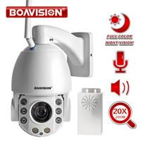 ip66 wifi kamera großhandel-20X Zoom 1080 P Wifi PTZ IP Kamera Outdoor 2 Way Audio Wasserdicht IP66 Vollfarbe Nachtsicht Sicherheit CCTV-Kamera Android IOS