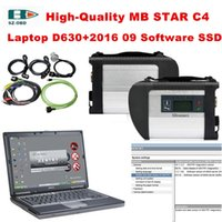 Wholesale mb star analyzer resale online - 2019 OBD2 Scanner MB STAR C4 and Laptop D630 and HDD with car Diagnostic Software V Diagnostic tools supporting WIFI For Benz
