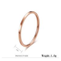 anéis modernos para meninas venda por atacado-Trendy Simples Aliança de Casamento Rosa de Ouro / Cor de Prata Anéis Para As Mulheres Meninas Fina 1 MM de Largura de Aço Inoxidável Presentes Da Jóia anel