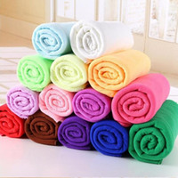Wholesale microfiber camp towel resale online - Towel New Microfiber Bath Towels Beach Drying Bath Washcloth Shower Washcloth Swimwear Travel Camping Towels Cleaning Facecloth DHD112