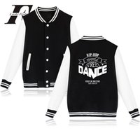 street dance hoodies großhandel-Hip Hop World Street Dance Mode Baseball Jacke Männer Frauen Hoodies Sweatshirt lässig Langarm Jacken Mantel Top