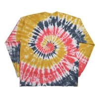bieber de justin camiseta venda por atacado-Justin Bieber Tie dyeing Drew House Homens Mulheres 1 v: 1 logotipo de alta qualidade Top Tees manga Comprida Drew House T-Shirts