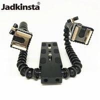 soporte de brazo flexible al por mayor-Jadkinsta Cámara Flash soporte de zapata caliente Cámara Montaje para flash para DSLR Fotografía flexible mágico Brazo de doble soporte Holder