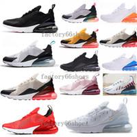 color máximo del zapato al por mayor-Nike Air Max 270 Francés 2 Estrellas Estilo de Verano Zapatos de Alta Calidad Para Hombres Mujeres Mucho Color Blanco Negro Rojo Envío de Gota Zapatos Casuales 36-45 8ee