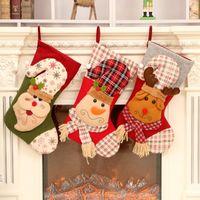 ingrosso decorazioni straniere-Hot Christmas Decorations Christmas Candy Bag Babbo Natale Pupazzo di neve Calzini di Natale Socks Gift Bag Commercio estero