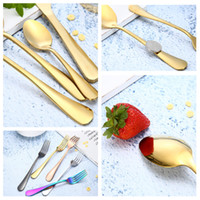 Wholesale character children sets for sale - fashion set stainless steel cutlery knife fork spoon western steak Dinnerware Sets cutlery child tableware T2I5136