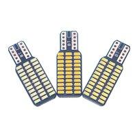 12v dc led 194 ampul toptan satış-WJ 1 Adet T10 192 194 168 W5W LED Ampuller 33 SMD 3014 Araba Kuyruk Işıkları Kubbe Lambası Beyaz DC 12 V Canbus Hata Ücretsiz Araba aksesuarları