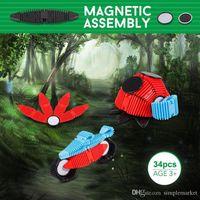 Wholesale block assembly puzzle toy resale online - 34pcs Flexible Magnetic Construction Kit Assembly D D Puzzle Block Educational Toys For Children Duplo Bricks Baby Gifts