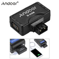 batterie-monitor-kameras großhandel-Andoer Kamera Andoer D-Tap auf 5V USB Adapter Anschluss für V-Mount Camcorder Kamera Akku für BMCC Smartphone Monitor