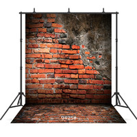 Vinyl portrait photography background vintage grunge brick wall floor for baby shower new born children portrait backdrop photo shoot studio