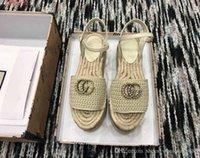 рыночная мода оптовых-2019 Новый стиль на рынке, женская модная обувь, красочные тканые сандалии, сандалии в стиле рыбака, размер 34-41