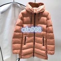 casacos de mulher quente venda por atacado-Casual quente Marca Mulheres Winter Jacket Baixo Baixo Coats Womens Outdoor com capuz colar Quente Feather vestido Brasão outwear casacos de inverno