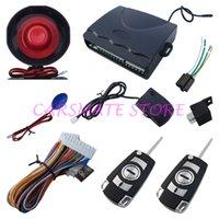 flip-taste alarm großhandel-Universal-Einwegautowarnungssystem mit Funkschlüsselfernverriegelung / Kofferraumentriegelung mit LED-Statusanzeige Carsmate