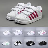 Adidas Superstar Zapatos para niños Zapatillas para niñas 2018 Primavera Otoño Invierno Nueva llegada Moda Super Star Zapatos casuales para