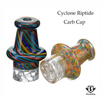 Wholesale Cyclone riptide carb cap mm OD glass dabber oil rig for mm quartz banger glass bong dab rigs