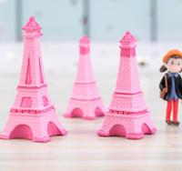 ingrosso miniature per giardini fiabeschi-Torre Eiffel Resina Artigianale In Miniatura Fata Giardino Desktop Room Decorazione Micro Paesaggio Accessorio Cactus Fioriera Regalo Novità Giochi GGA2013