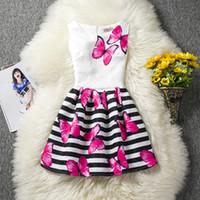 ingrosso costumi principessa adolescenti-Teenage Girls Summer Dress 2018 Brand Baby Stampa floreale Abito Princess Costume Bambini Abiti Abiti per bambini per ragazze 12 anni MX190724
