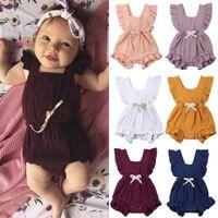 fabrik outfit großhandel-neugeborener Spielanzug leer Overall Baumwolle Kind-Sommer-Outfit 0-24M Kid Kleidung Fabrik Kleidung