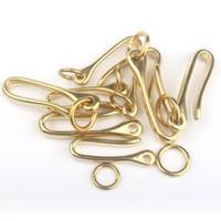 fivela de latão vintage venda por atacado-frete grátis quente de bronze chaveiro Vintage Handmade pura latão de metal em forma de U-chave EDC gancho ferramenta cobre fivela de ferradura