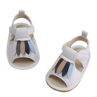 Wholesale crocheted newborn sandals resale online - New baby shoes toddler shoes designer baby girl shoes Summer newborn sandals infant sandals leather toddler girl sandals t A5658