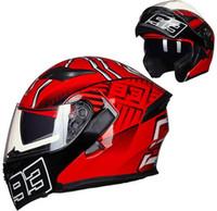 шлем с полным лицом оптовых-Модульный мотоциклетный шлем флип анфас гоночный шлем каски Para Moto двойной объектив может быть оснащен Bluetooth Capacete DOT