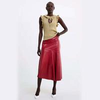 рваные тарелки оптовых-2019 Dropshop Трикотажные женские модные летние женские майки с оборками S M L Z15
