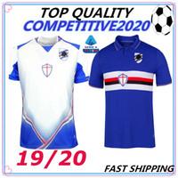uc mini toptan satış-2019 2020 UC Sampdoria Futbol Formaları Sala Ekdal Saponara Barreto Praet Ramirez Caprari Quagliarella Özel Mavi Beyaz 19 20 Futbol Gömlek