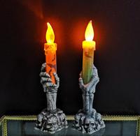 bandera usb al por mayor-productos de Halloween, fantasma ambiente festivo, los apoyos, las manos de fantasmas de plástico, luces de la noche, las luces esqueleto, luz de las velas LED emisor de luz