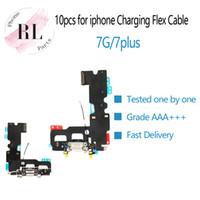 ingrosso sostituzione dei cavi audio-10 pezzi parti nuova ricarica USB caricabatterie dock connettore di ricambio per iPhone 7 7G 7 Plus 7P cuffie audio Jack cavo flessibile