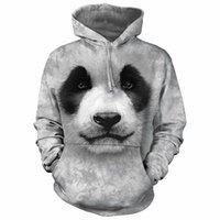 женщина-толстовка панды оптовых-PLstar Космос The Mountain Panda Bear 3d Печатный Мужчины Женщины Толстовка С Капюшоном Повседневная Толстовка Спортивный Костюм Унисекс Пуловер Уличная