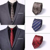 tejidos profesionales al por mayor-Moda hombre corbata clásica 6 cm desgaste profesional jacquard tejido hecho a mano corbata boda de los hombres informal y de negocios corbata 30 colores