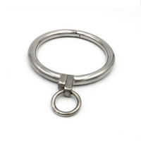 Wholesale neck collar metal lock for sale - Group buy Exquisite Stainless Steel Necklet Collar Metal Neck Ring Restraint Locking Pins Adult Bondage Bdsm Sex Games Toy For Male Female